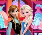 Elsa ve Anna Balo Hazırlık