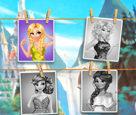 Prensesler Selfie Çekimi