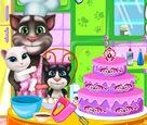 Tom ve Bebekleri Pasta Yapıyor